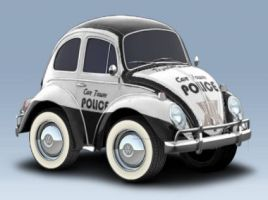 Car Town Police Bug by LittleBigDave