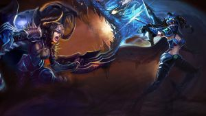 LoL - Shyvana Vayne Splash by ConShinn