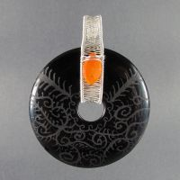 Onyx, Carnelian and Silver by sylva