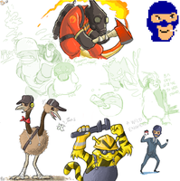 TF2 Pokemon by Black-Charizard