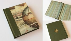 Vintage Journal with Gilded Fleur de Lys by GatzBcn