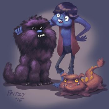 Hairy things. by Pfitzy