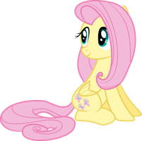 Fluttershy Sitting by Siaphra