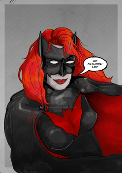 Batwoman [Vent Art] by LeoMitchell