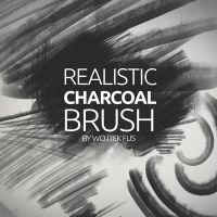 Free Realistic Charcoal Photoshop Brushes by Designslots