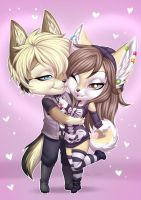 Axle and Blitzy HUG by playfurry