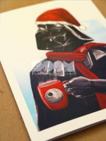 Darth Vader Xmas card closeup3 by DoomCMYK