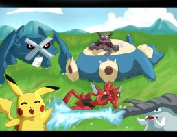 Request: Poketeam by AxelBlade