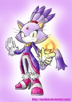 Blaze the cat Remake by NENIKAT