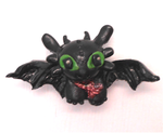 Miniature handmade toothless magnet by MiniSweetx
