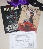 My Hit-Girl Comics (Signed by Mark Millar!!) by Go-To-Sleep-Liu