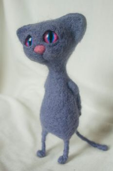 Felted Cat by Yubodoc