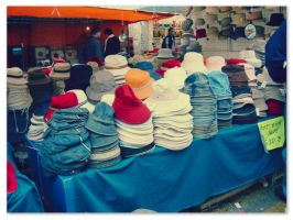 Korean market hats by sataikasia