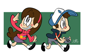 Lady Mabelton and Sir Dippingsauce by RedBlooper
