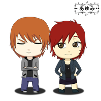 Commission Alyx n Holden chibi by 0xayumix0