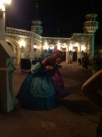 Suzy, Perla And The New Fantasyland Entryway by SantosPhillipCarlo