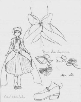 Aelita wonderland dress .Uncolored. by LyokoFanLatina