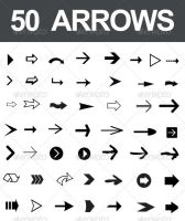 50 Arrow Vectors by nadaimages