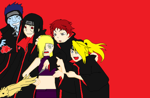 ino and the Akatsuki by Envy5h