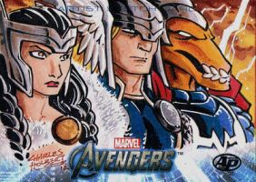 Avengers AP Thor Sif Bill by KidNotorious