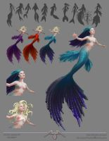 Lil Mermaid Concept sketches by DEATHlikescats