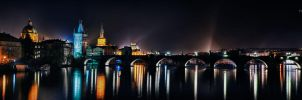 Charles Bridge at Night by Creative--Dragon