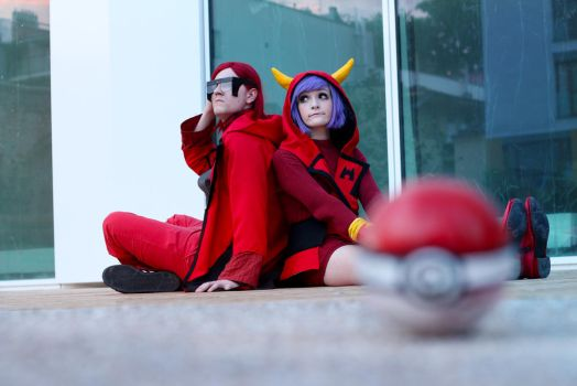 Pokemon -  Maxie and Courtney by EvaHlavataP
