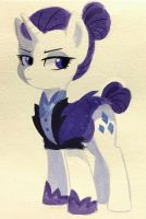 Nightmare AU Rarity by kilala97