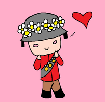 Chibi Soldier With a  Flower Crown by ThatOtherFangirl