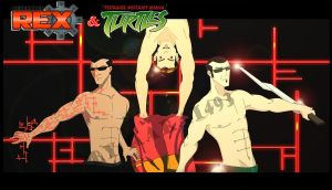 TMNT and Generator Rex  Bishop with Rex and Six by Karai493