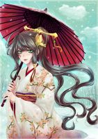 Snow and Umbrella by Eternal-S