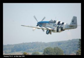 Mustang P-51  D Take off by Reto