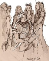maidens of GOT (sketch) by like-a-cactus