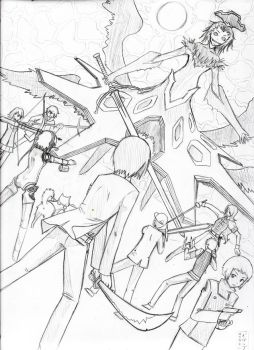 Persona 3 Final Battle WIP by Pirrip