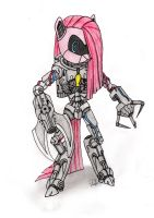 Android Pinkamena/ Steamwing Jester (Overdrive) by Comet-Strike