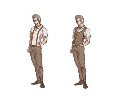 Steampunk Casual clothes sketch by Kanimir