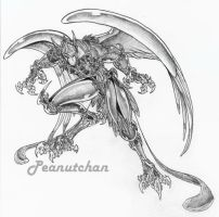 :Biomech Bird Man: by peanutchan