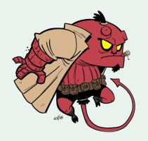 Un Hellboy de rojo by Monkey-Cosio