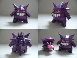 Pokemon-Gengar Papercraft by savaskul