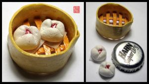 char Siu Bun Miniature by WinMush