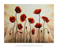 painting: 'Papavers in sunshine' by MarthaBalerina