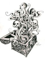 Pandora's Box Tattoo by Lucky978