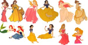 Disney Princess Characters by Avalonis