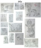 OC sketches by Wickaii