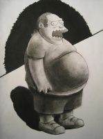 Charcoaled Comic Book Guy by jvalera