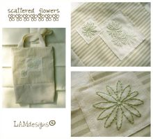 Scattered Flowers Tote by MasonBee