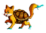 Camish the turtlekitty by EfricanEve