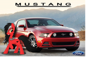 Cars as Ponies: Ford Mustang by Farminilla