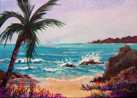 ACEO Tropical Cove #2 by annieoakley64