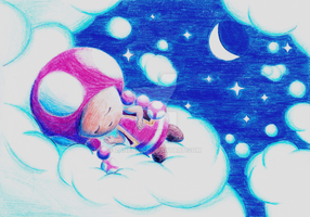 Toadette - Between Clouds and Stars... by ZaneNya